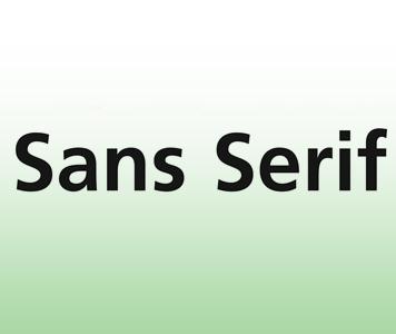 Tipos de fuente Sans Serif